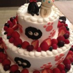 kiki wedding cake with jiji