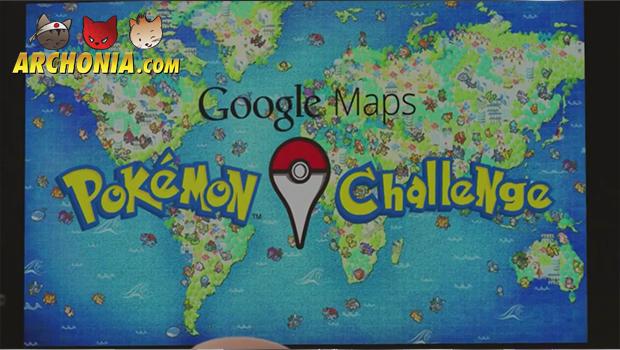 Pokémon Challenge Google Maps