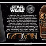 Santa Cruz Darth Vader Wood inlay Deck