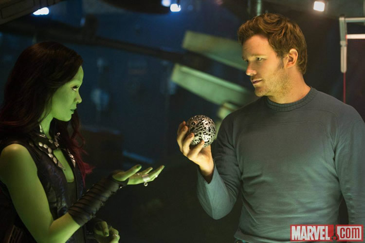 gamora en star lord