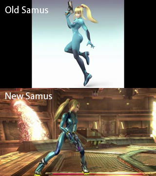 old and new samus