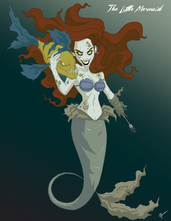 dark-fan-art-twisted-princesses-ariel-and-flounder