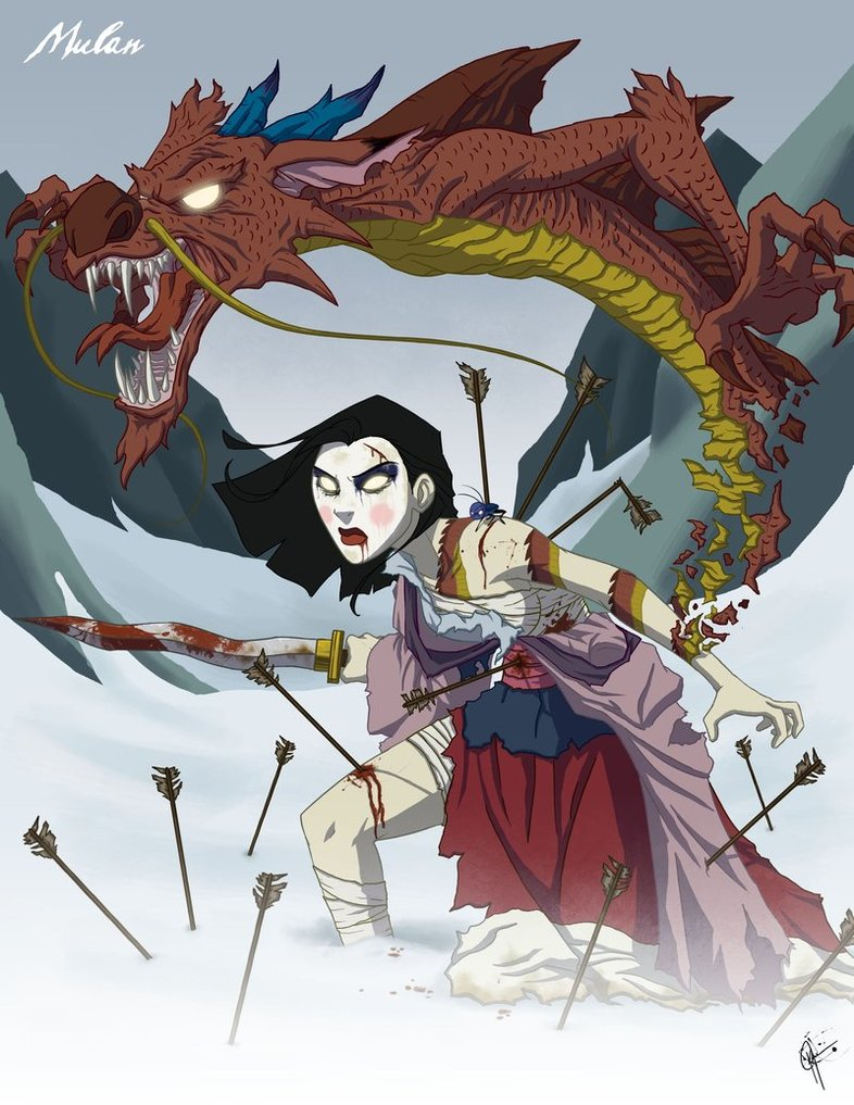 dark-fan-art-twisted-princesses-mulan-cricket-and-mushu