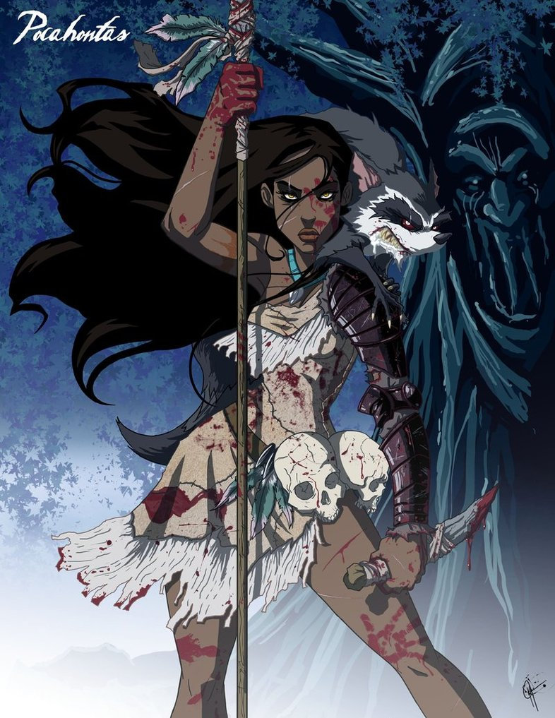 dark-fan-art-twisted-princesses-pocahontas-and-miko