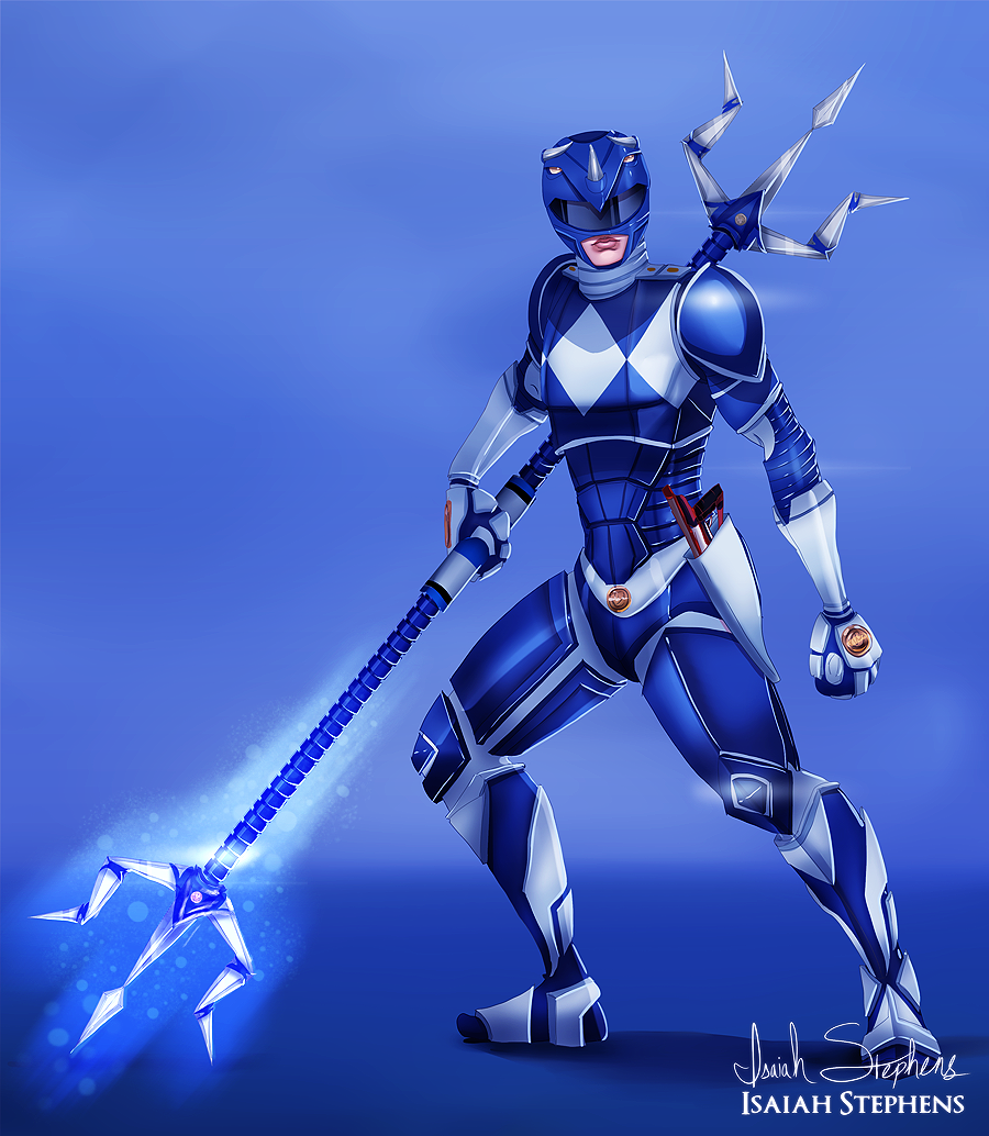 blue armoured power ranger