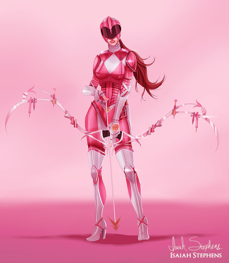 pink armoured power ranger
