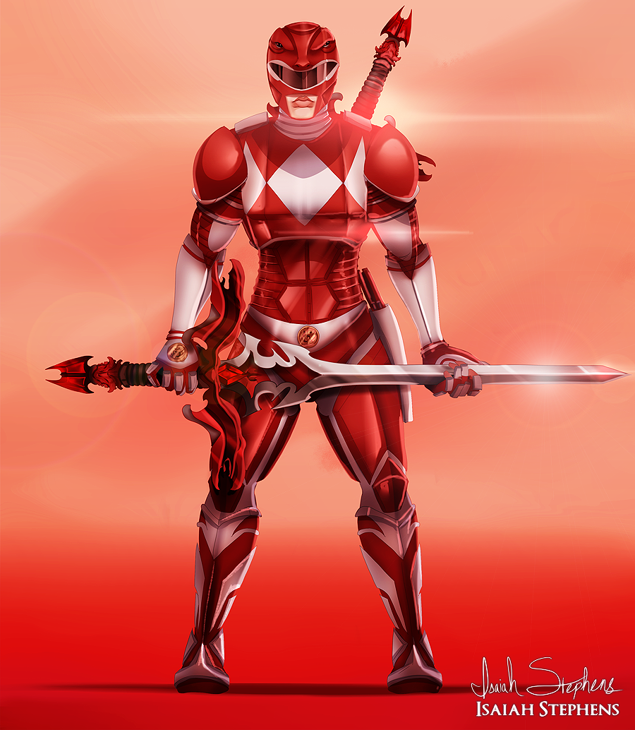red armoured power ranger