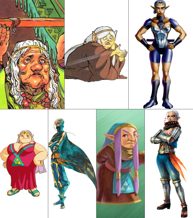 Impa: The Legend of Zelda, The Adventure of Link, Ocarina of Time, Oracle of Ages/Seasons, Skyward Sword, A Link Between Worlds, Hyrule Warriors