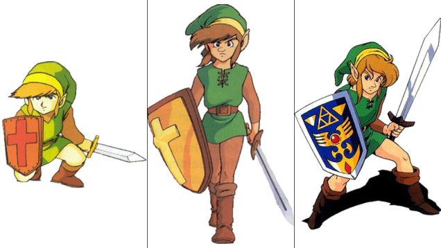 Link: The Legend of Zelda, The Adventure of Link, A Link to the Past