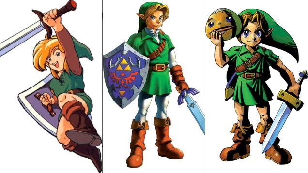 Link: Link's Awakening, Ocarina of Time, Majora's Mask