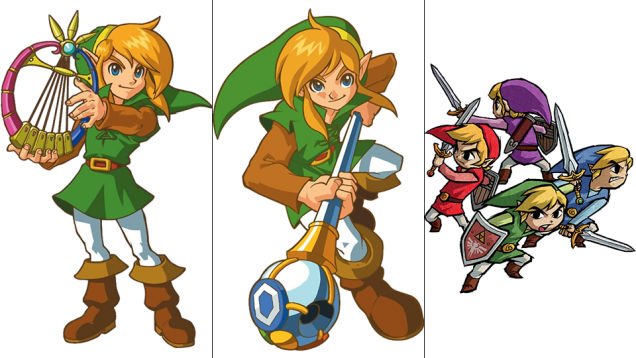 Link: Oracle of Ages, Oracle of Seasons, Four Swords