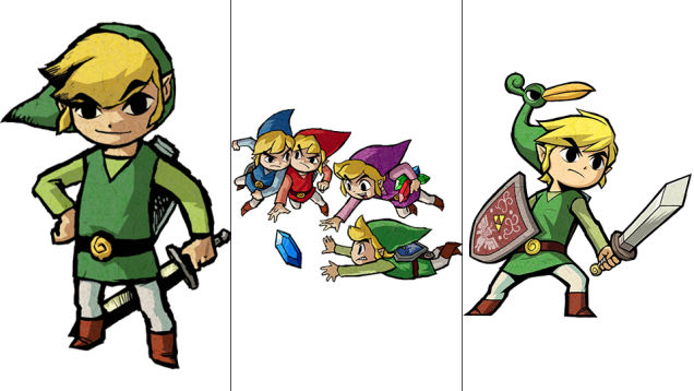 Link: The Wind Waker, Four Swords Adventures, The Minish Cap