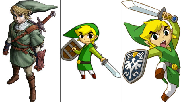 Link: Twilight Princess, Phantom Hourglass, Spirit Tracks