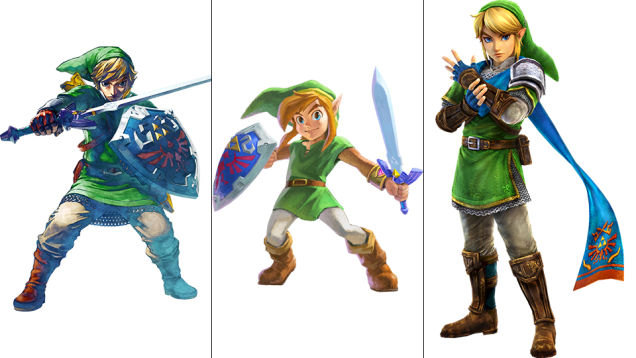 Link: Skyward Sword, A Link Between Worlds, Hyrule Warriors