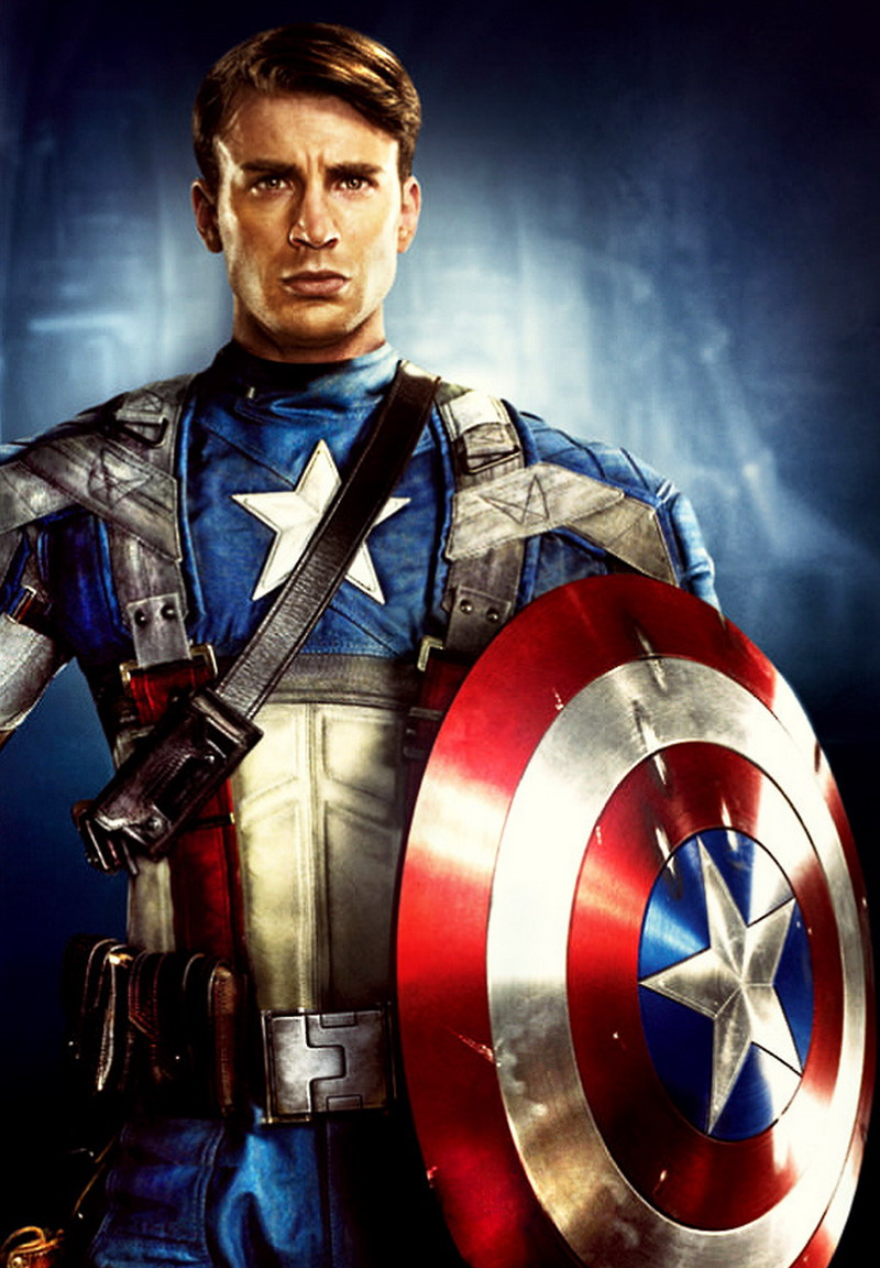 Chris Evans - Captain America - Top 10 Sexiest, Hottest Superheroes
