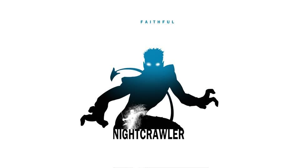 Nightcrawler X-Men Character Silhouette