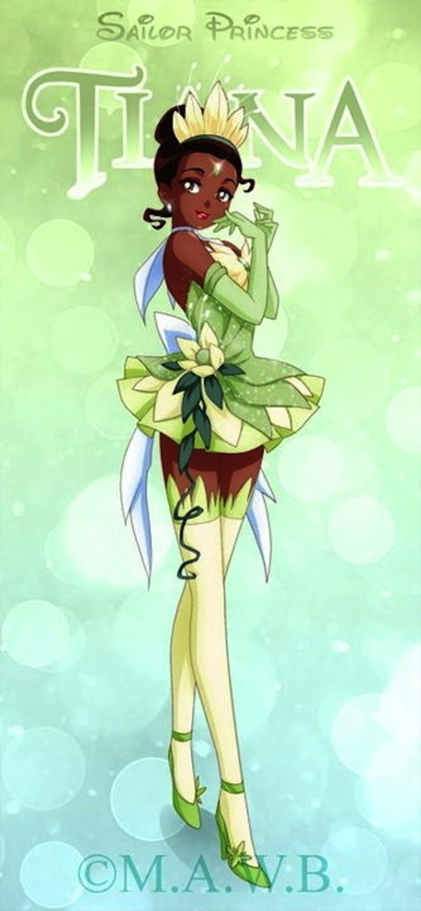 Sailor Moon Disney Princess Crossover Tiana