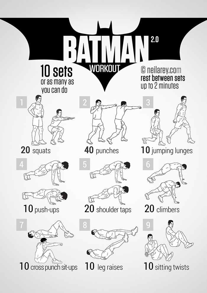 geeky<em>workout</em>Batman - Workout Wednesday - Batman Workout