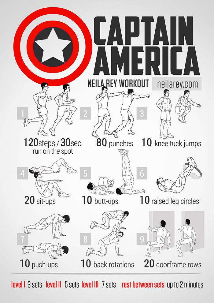 geeky<em>workout</em>Captain America-Marvel