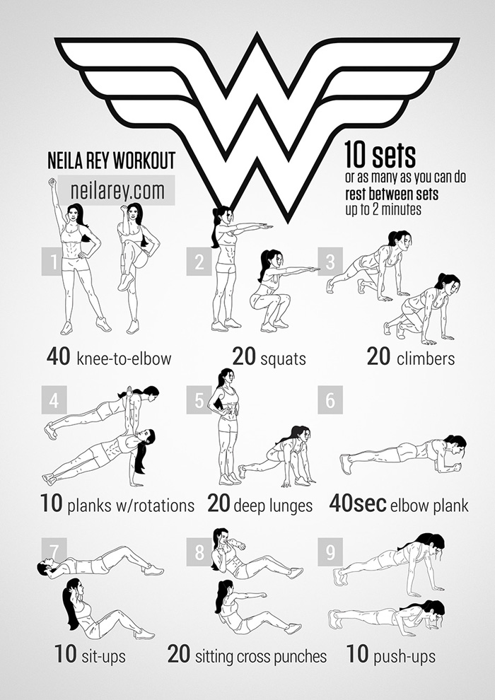 geeky<em>workout</em>Wonder Woman