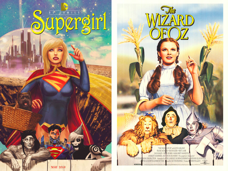 Supergirl---The-Wizard-of-Oz---DC-Comics