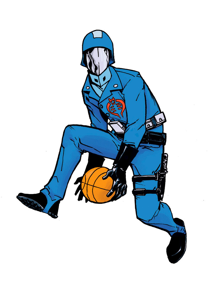 cobra commander airb61 - basketball eigties/80's supervillains - G.I. Joe