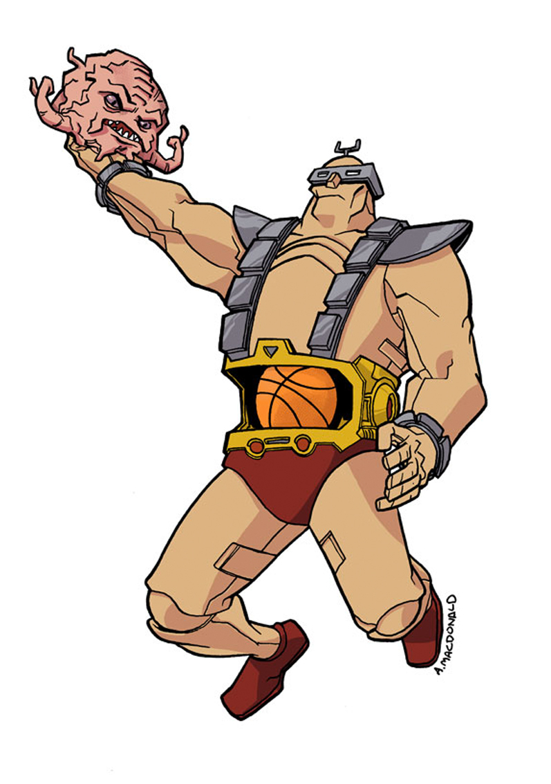 krang air b61 - basketball eigties/80's super-villains - Teenage Mutant Ninja Turles