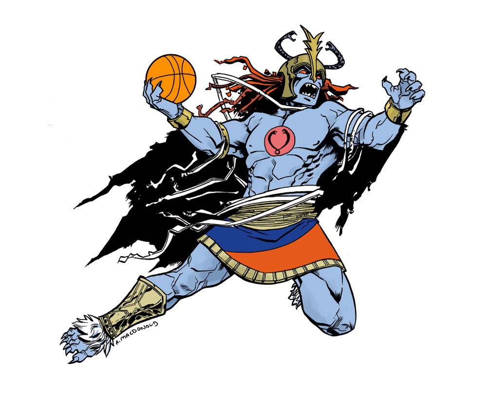 Mumm-Ra air b61 - basketball eigties/80's super-villains - ThunderCats