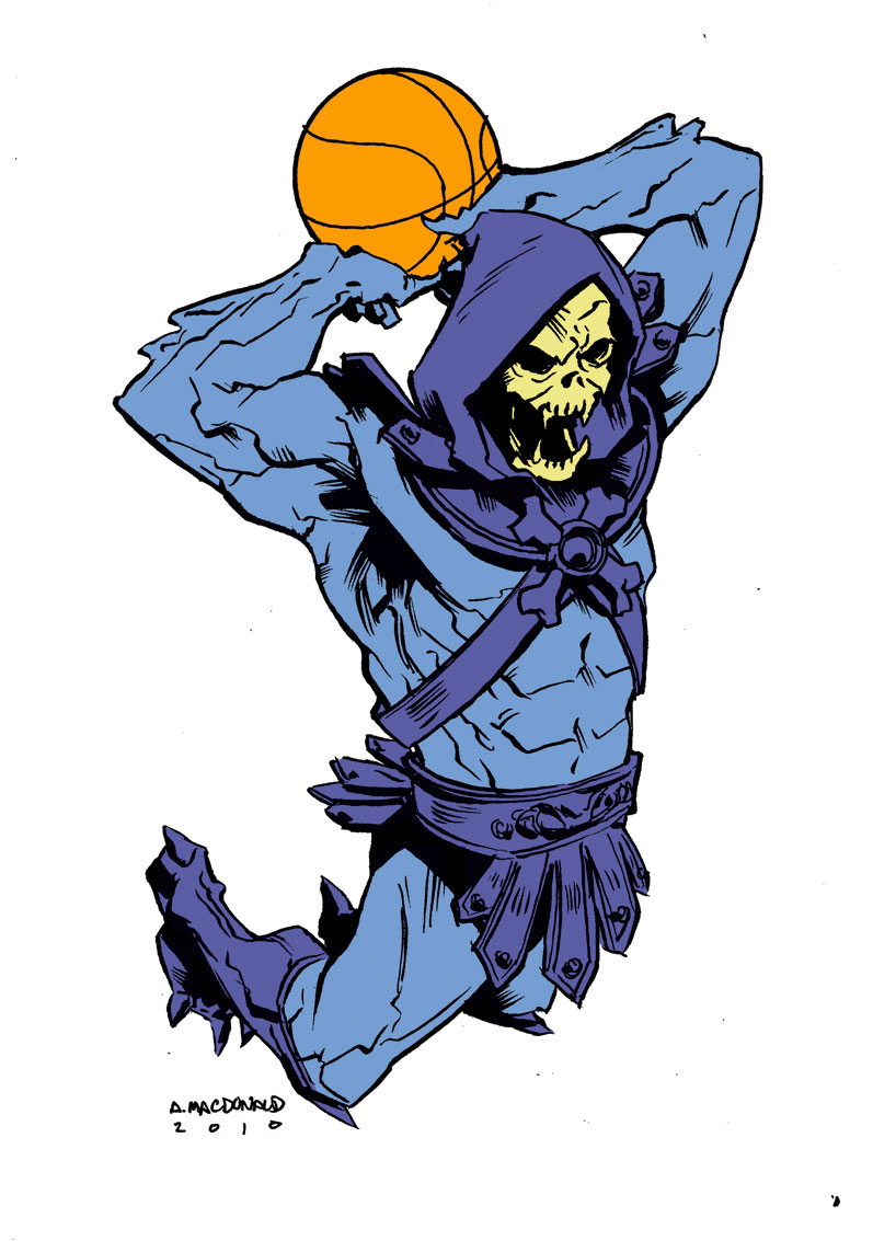Skeletor air b61 - basketball eigties/80's super-villains - Masters of the Universe