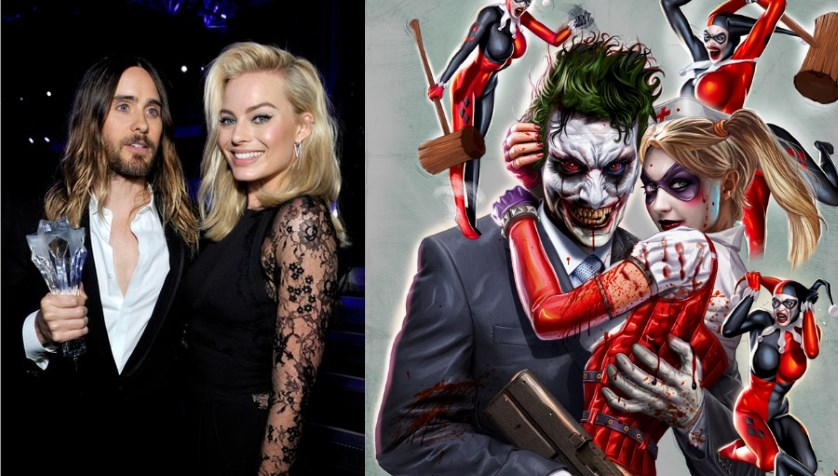 Suicide Squad Movie Cast - Joker & Harley - Jared Leto and Margot Robbie