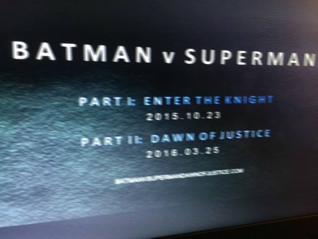 Batman v Superman two parts?