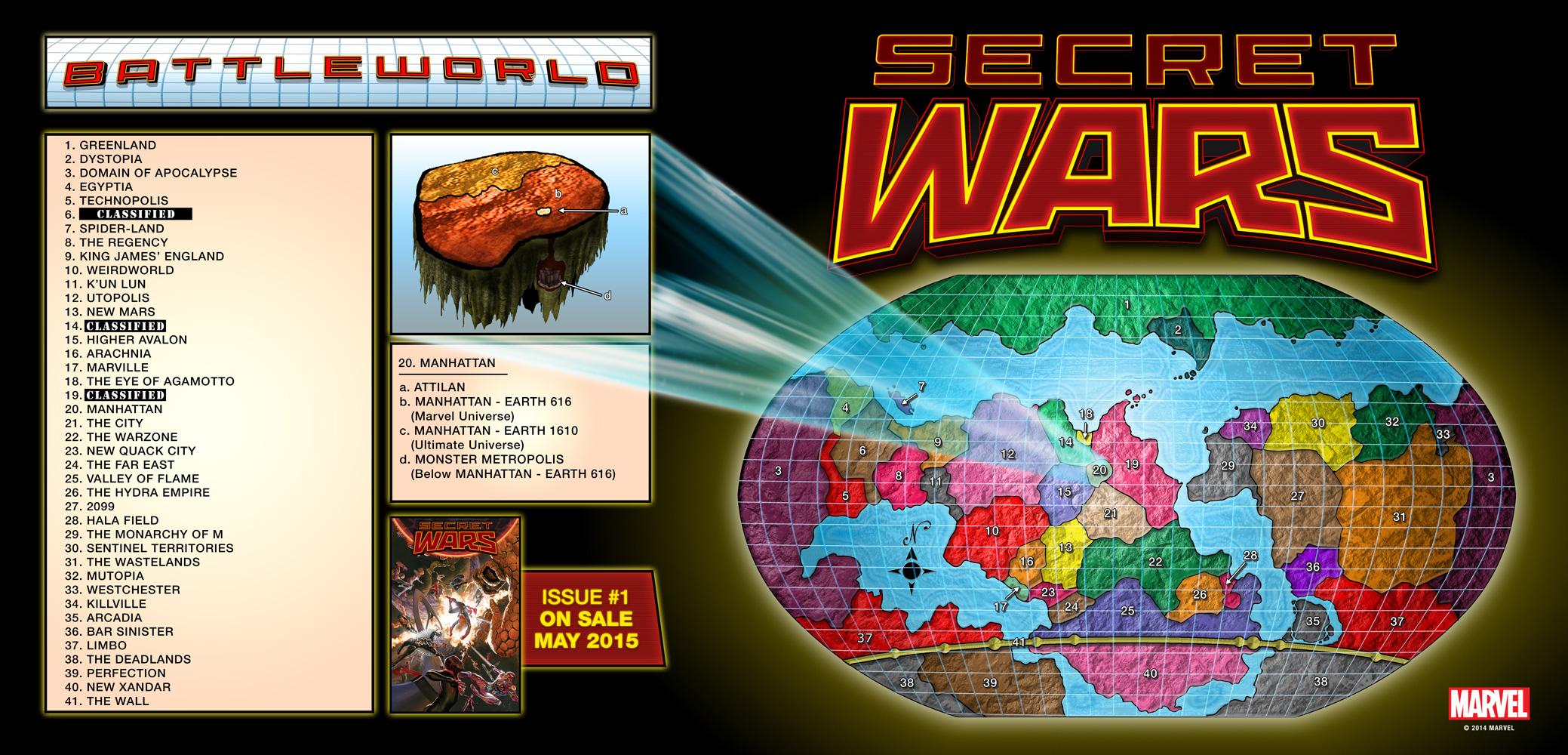 Marvel's Battleworld is the scene for Secret Wars