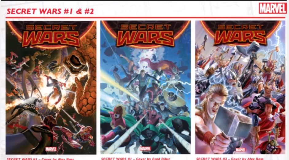 Secret Wars Covers