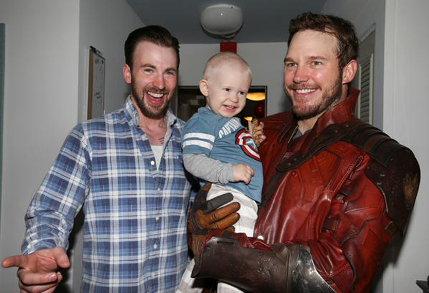 Star Lord visits childrens hospital in Boston