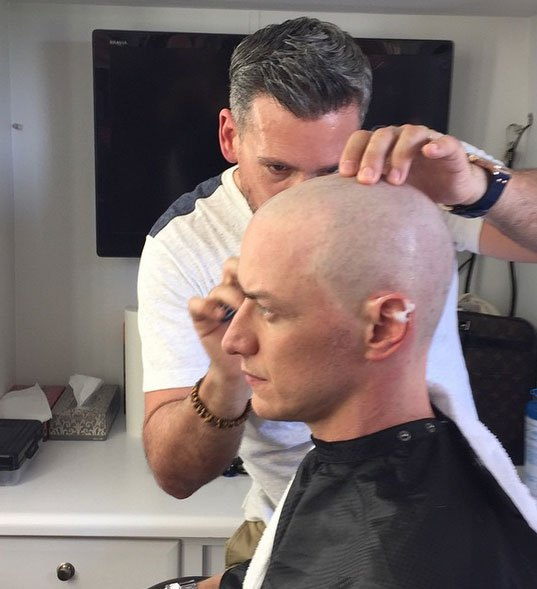 James McAvoy finally goes bald for X-Men Apocalypse