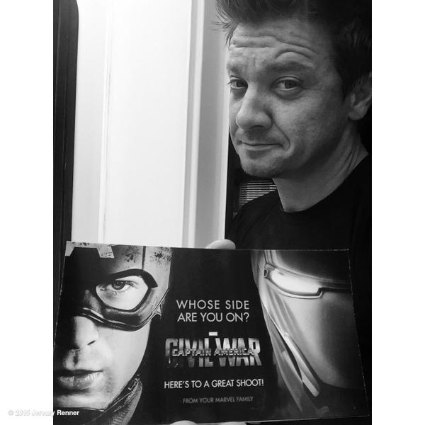 Jeremy Renner Posts Civil War Promo Image