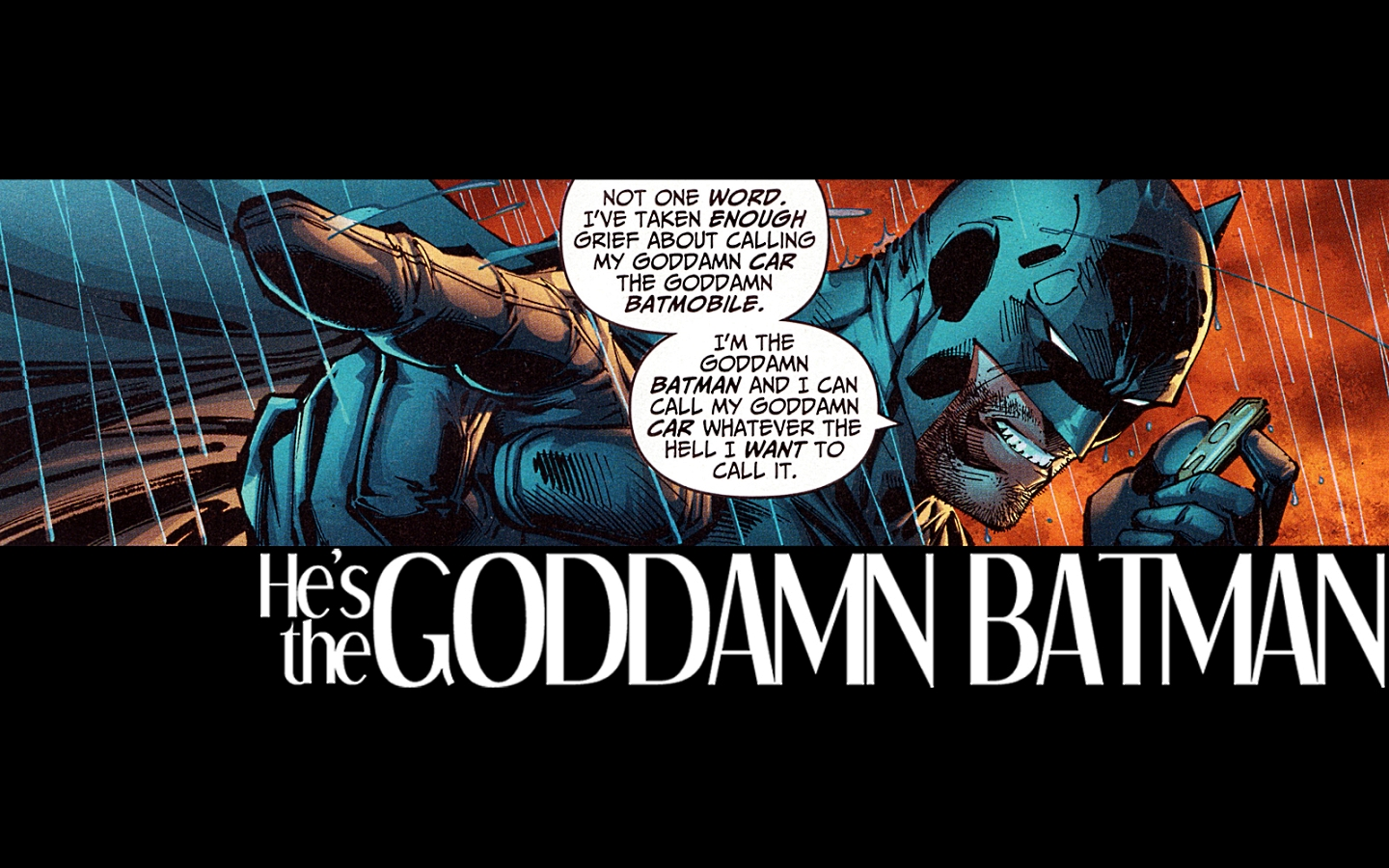 the thing about Batman 1