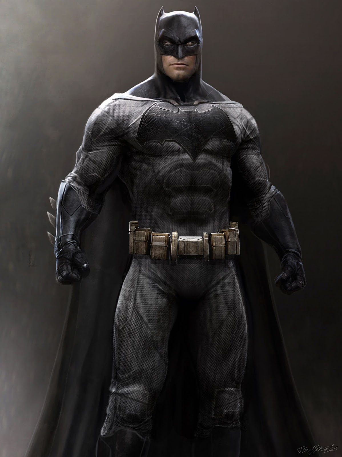 Ben Affleck Batman Costume Concept Art