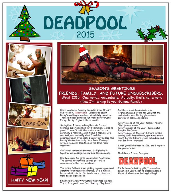 Deadpool X-mas Letter