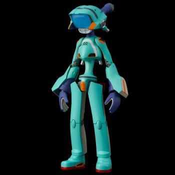FLCL PVC / Diecast Action Figure - Canti Blue Ver.