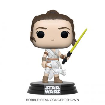 Star Wars Episode IX Pop Vinyl Figure - Rey with Yellow Saber