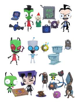 Invader Zim Series 1 Action Figures (Set of 3 Duo-packs)