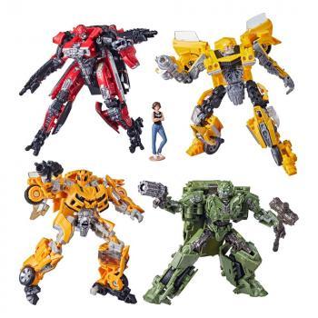 Transformers Buzzworthy Bumblebee Studio Series Deluxe Action Figures - 2021 Wave 1 Assortment (4)