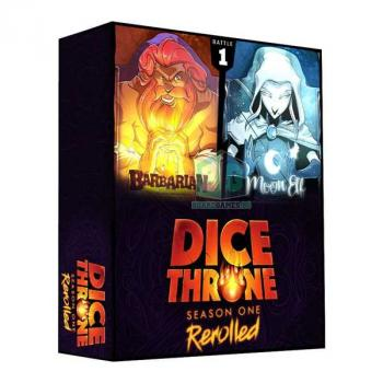 Dice Throne Card Game - Season One Rerolled Box 01 - Barbarian vs. Moon Elf