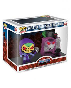 Masters Of The Universe Pop Town Vinyl Figure - Skeletor with Snake Mountain
