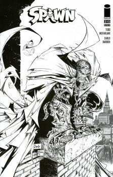 Spawn #315 Cover E Incentive Greg Capullo & Todd McFarlane Black & White Cover