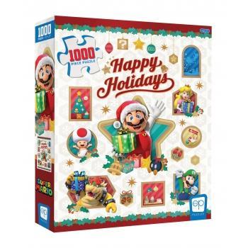Super Mario Jigsaw Puzzle - Happy Holidays (1000 pieces)