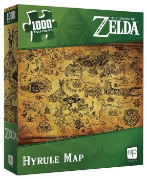 The Legend of Zelda Jigsaw Puzzle - Hyrule Map (1000 pieces)