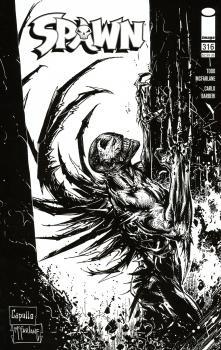 Spawn #316 Cover D Greg Capullo & Todd McFarlane Black & White Cover