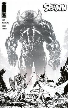 Spawn #317 Cover D Incentive Greg Capullo & Todd McFarlane Black & White Cover